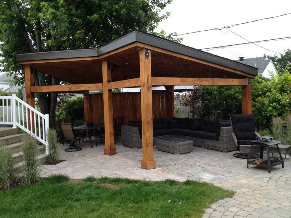 Gazebo Moderne Design Et Realisation Pur Patio Ce Gazebo A Ete