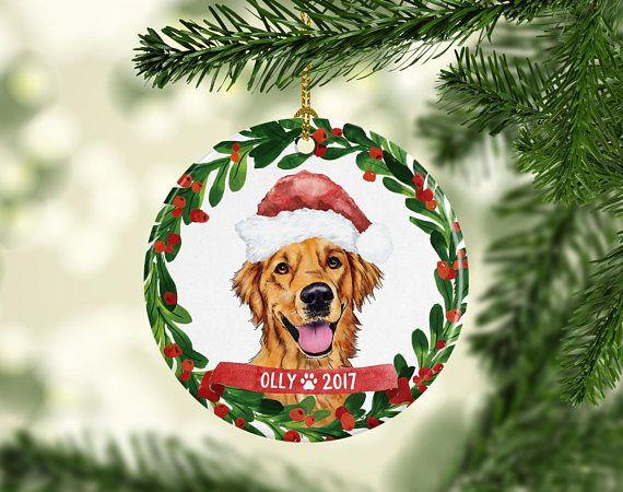Dog Ornament Pet Gift Golden Retriever Christmas Ornament Golden