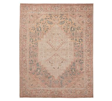 Yuna Hand Knotted Rug Blush Multi Hand Knotted Rugs Hand Loomed Rug Rugs
