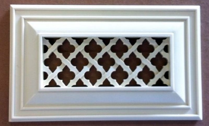 Ribbon Vent Cover Sample In 2020 Decorative Vent Cover Vent Covers Baseboard Heater Covers