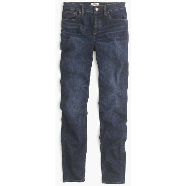 J.Crew Tall Lookout High-Rise Jean ($150) ❤ liked on Polyvore featuring jeans, petite, stretch skinny jeans, high rise jeans, stretchy skinny jeans, high-waisted jeans and petite skinny jeans