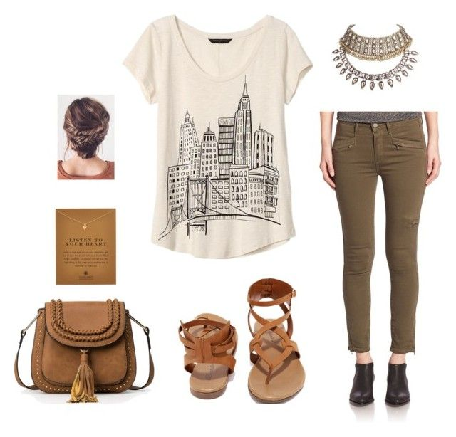 """""""I'm a Tourist"""" by lia1617 ❤ liked on Polyvore featuring Paige Denim, Banana Republic, Breckelle's and Dogeared"""