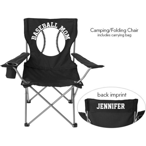 Personalized Folding Chair Baseball Mom Solid Or Glitter Vinyl