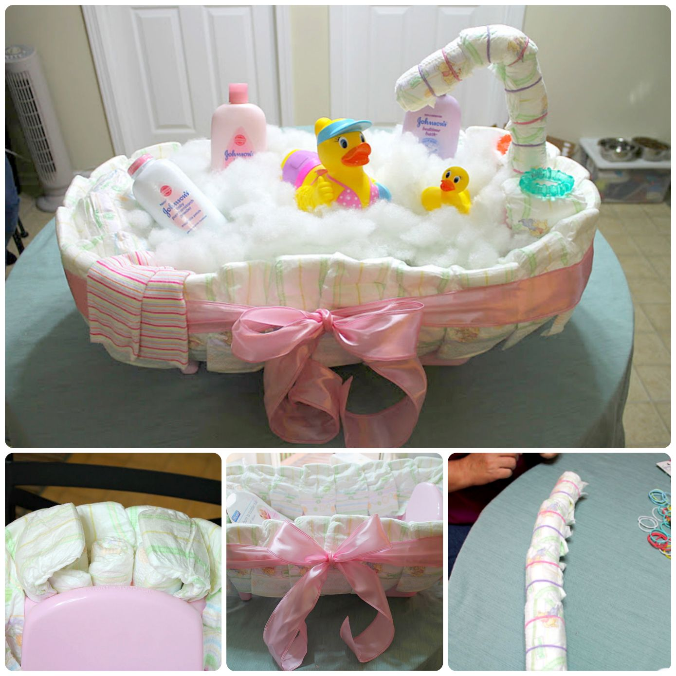diy diaper cake tutorial is easy when you know how. Black Bedroom Furniture Sets. Home Design Ideas