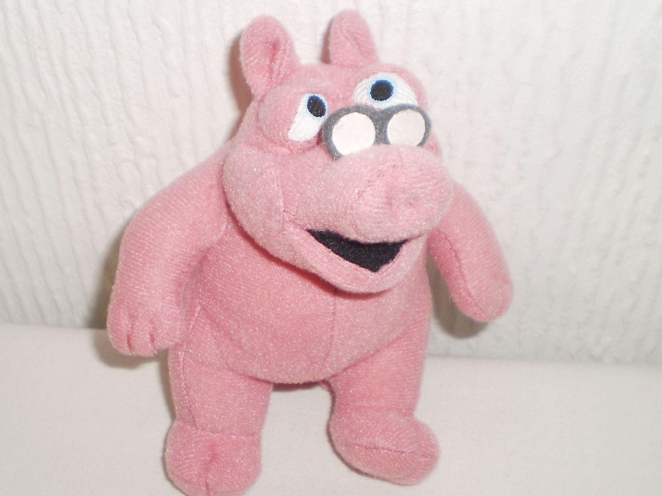 2002 doc hogg mcdonalds soft toy pig jim hensons bear in the big