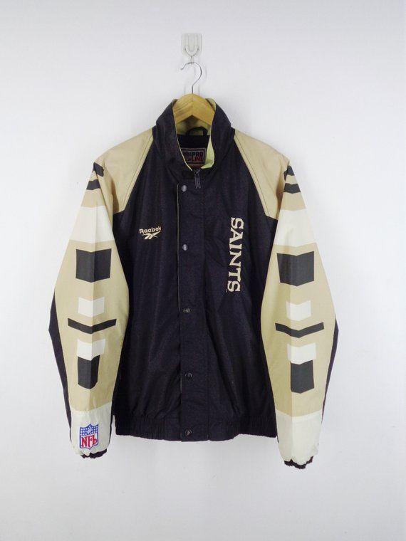 67d8d2c14f794 New Orleans Saints Windbreaker New Orleans Saints Jacket Vintage ...