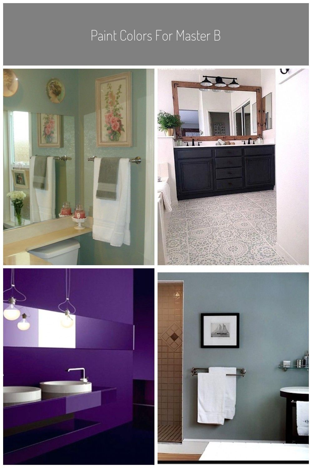 Paint Colors For Master Bedroom And Bathroom Badezimmer Dunkel Streichen Paint Badezimme In 2020 Master Bedroom Colors Bedroom Paint Colors Master Bathroom Colors
