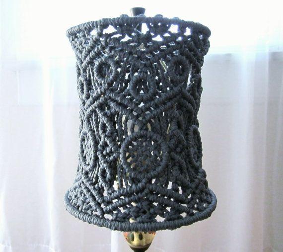Handmade Macrame Small Lamp Shade for Small Table by craft2joy My macrame Pinterest Small ...