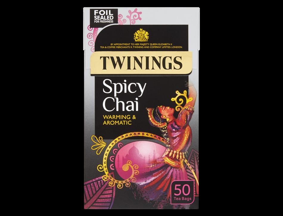 Spicy Chai 50 Tea Bags Matcha green tea powder, Chai