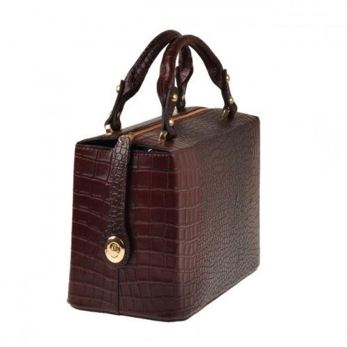 Emilio Masi borsa donna in pelle con manici italian leather handbag bauletto 6e90e7f754e