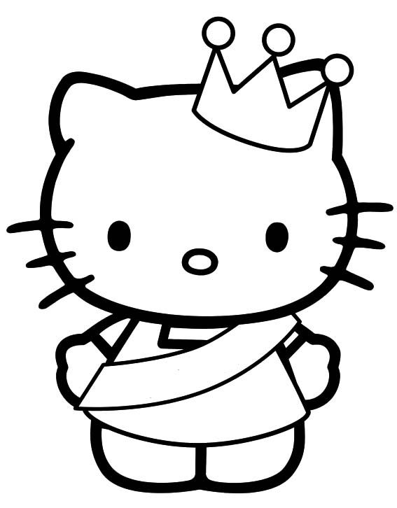 princess hello kitty coloring pages - beautiful princess hello kitty coloring pages hello