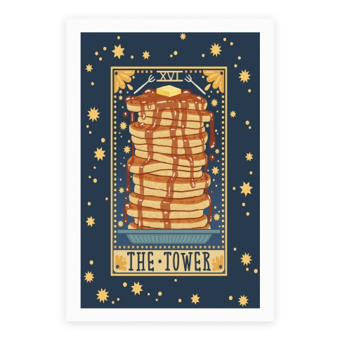 Tarot Card The Tower Of Pancakes Posters Lookhuman Tarot Cards Tarot The Tower Tarot