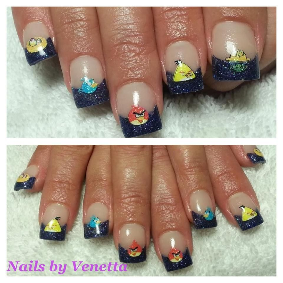 Angry Birds Nails, Nail Art, Nail Stickers | Acrylic - Nails by ...