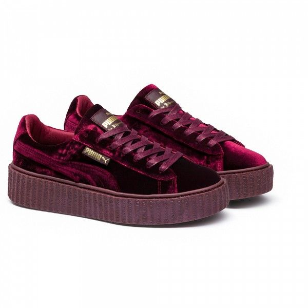low priced 90847 09249 FENTY PUMA BY RIHANNA Velvet Creepers ❤ liked on Polyvore ...