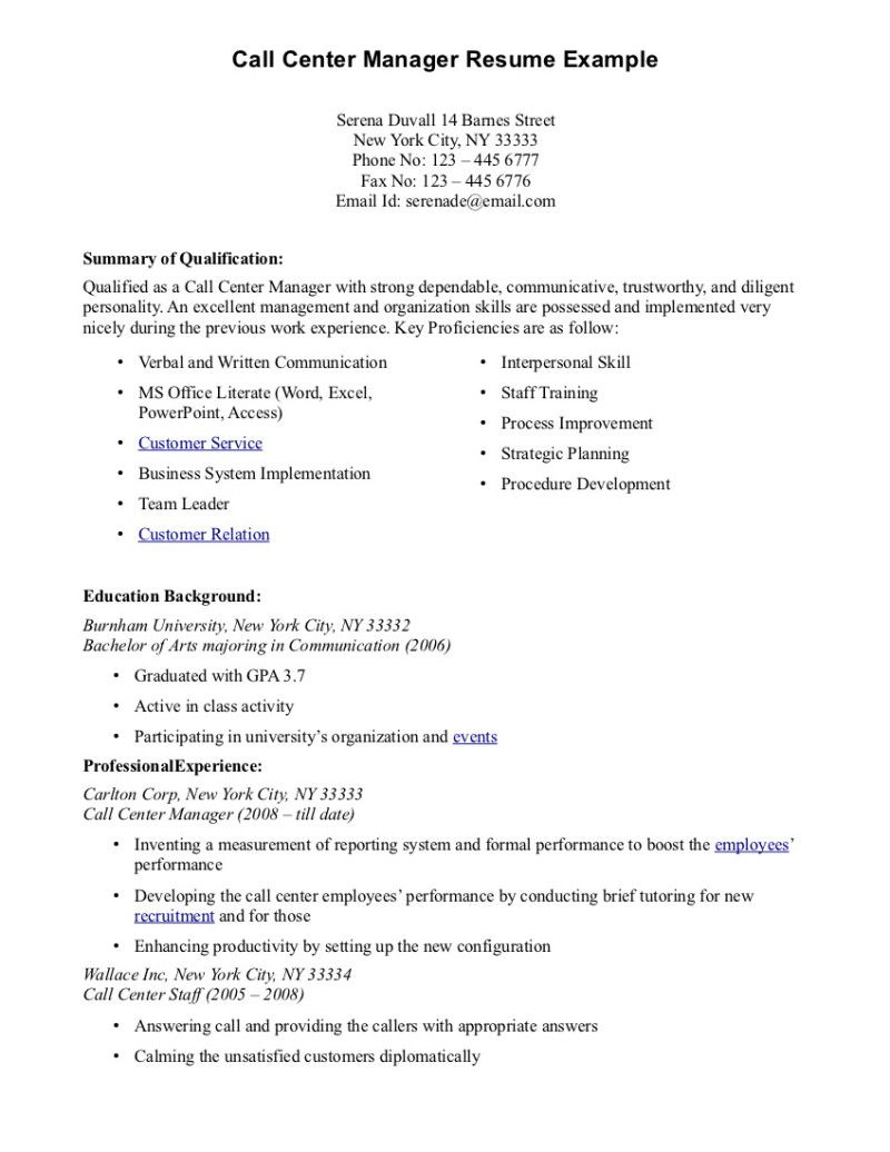 Call Center Resume Template Good Teacher Resume Words Cover Letter Example With Resumes For