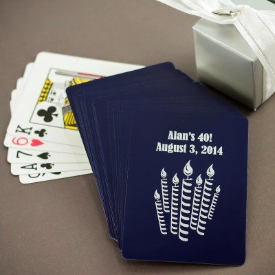 Personalized 40th Birthday Playing Cards