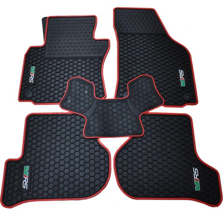 Special Waterproof Rubber Texture Mat Original Position Snap Dedicated Bridge Car Floor Carpets For Skoda Oc Volkswagen Polo Gti Car Floor Mats Volkswagen Polo