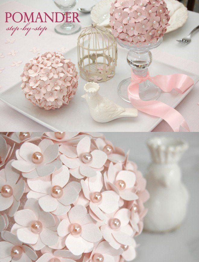 decorar una primera comunin con esfera con flores