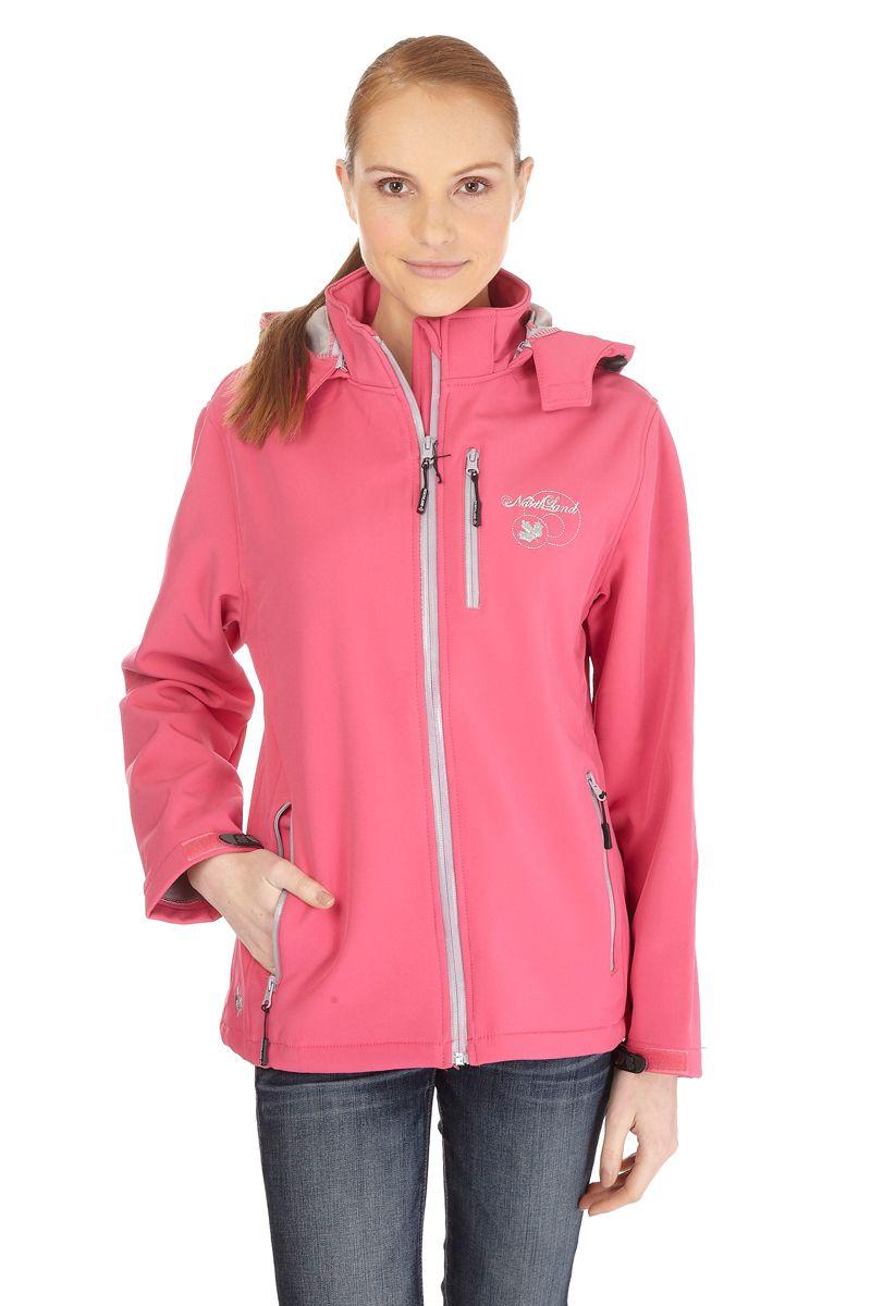 Venda Northland / 8578 / Mulher / Blusões de Ski e Casacos Softshell / Casaco Tigra Fúcsia e Cinzento Claro. De 170€ por 42€.