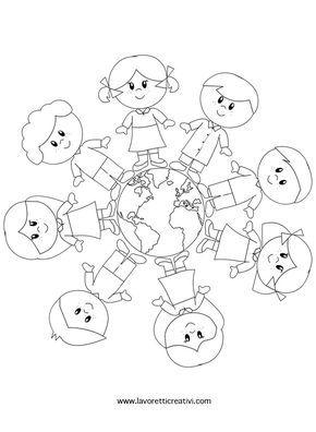 Condividi Questo Lavorettotweetaltri Lavoretti Bambini Intorno Al Mondodiploma Harmony Day Preschool Activity Earth Day Crafts