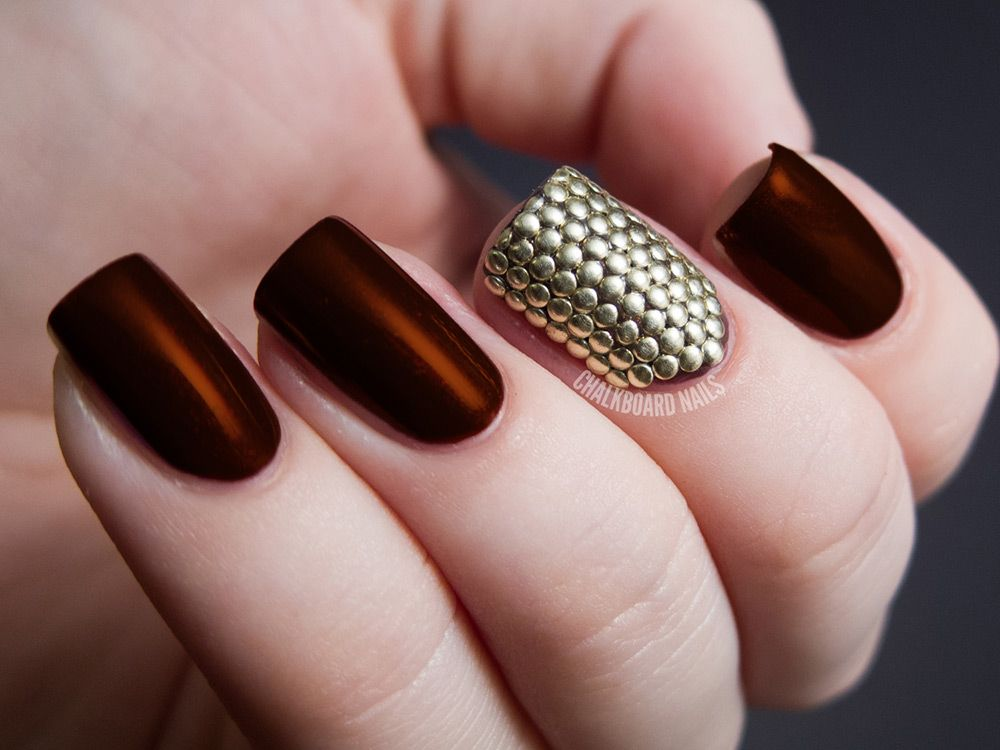 Best 25 brown nail art ideas on pinterest browning nails brown 30 fotos de uas decoradas con color marrn brown nails decoracin de uas prinsesfo Image collections