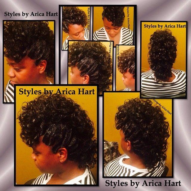 Mohawk - curls and fingerwaves hair styles by Arica Hart | beauty