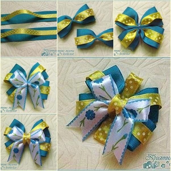DIY Ribbon Bow   DIY Beautiful Satin Ribbon Bow Hair Clip  e6367fb0f6