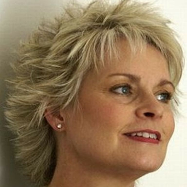 short hairstyles for older women with double chin Hair Pinterest