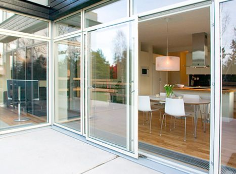 Would love to have this kind of sliding doors, well almost walls :) Nice architecture overall.