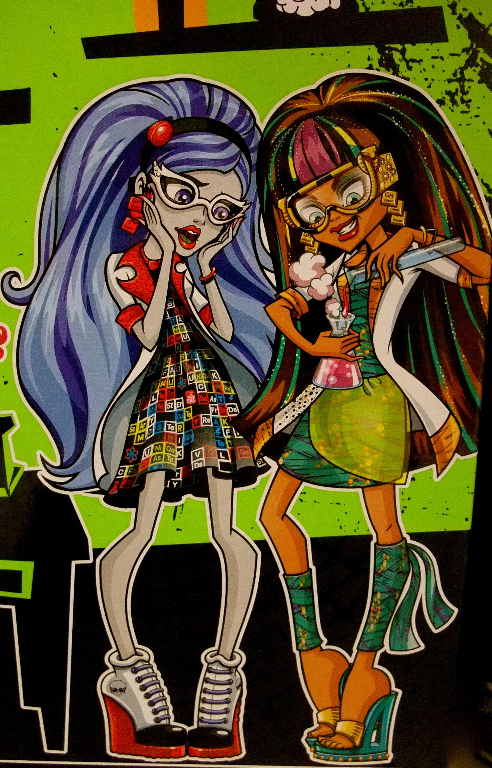 Lab Partners Ghoulia Yelps Cleo Denile Monster High Art