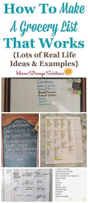 Lots of real life ideas and examples for how to make a grocery - grocery list examples