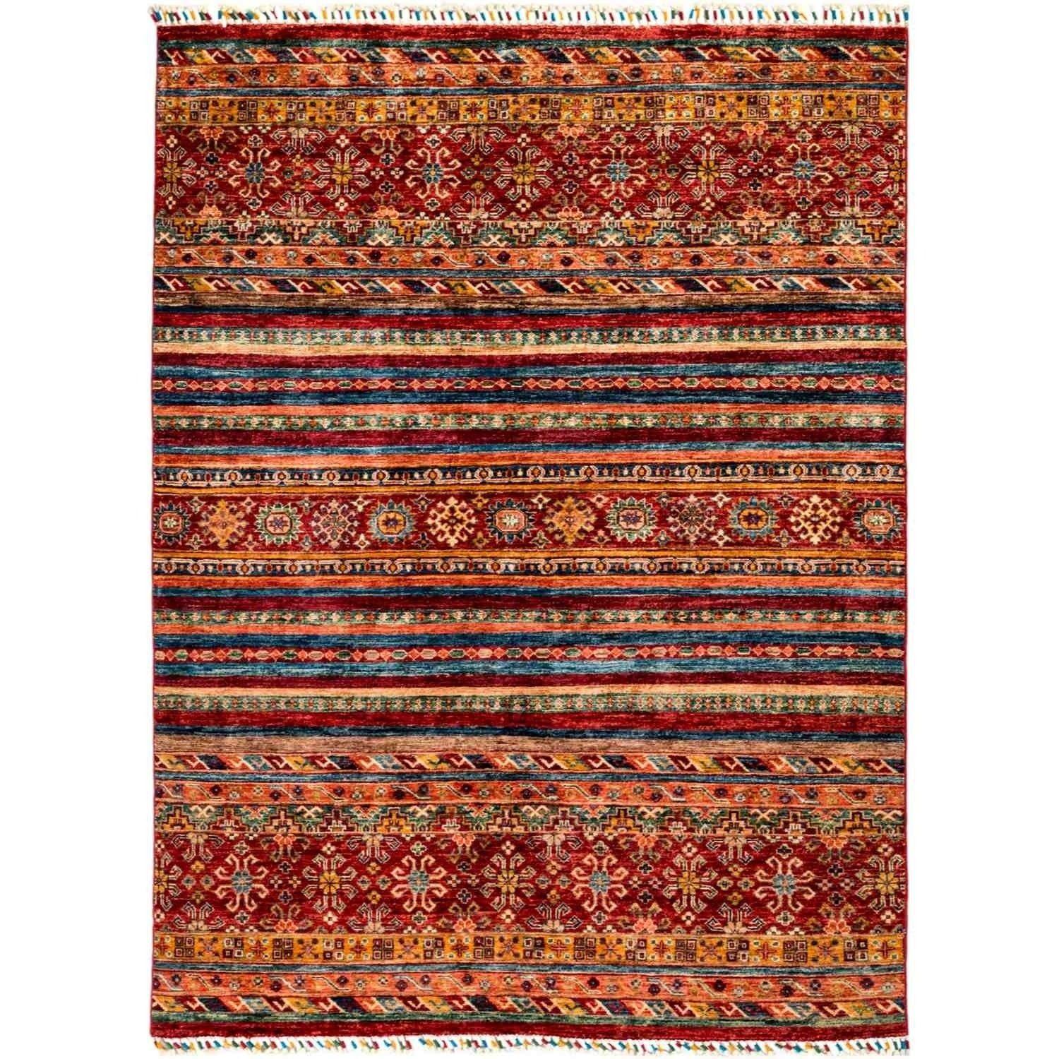 Tribal Hand Knotted Area Rug 5 2 X 6 10 5 2 X 6 10