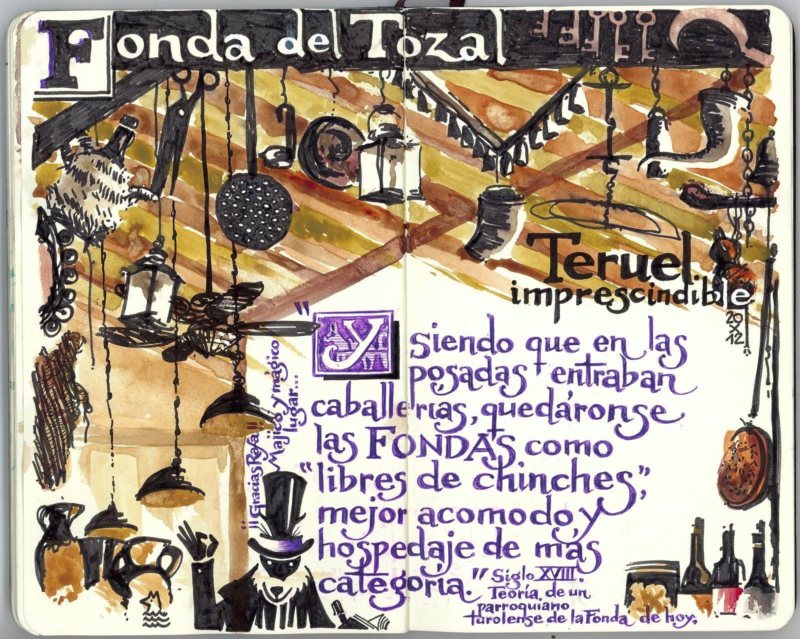 de vuelta con el cuaderno: Cuaderno Muaré (11.Teruel) Fonda del Tozal