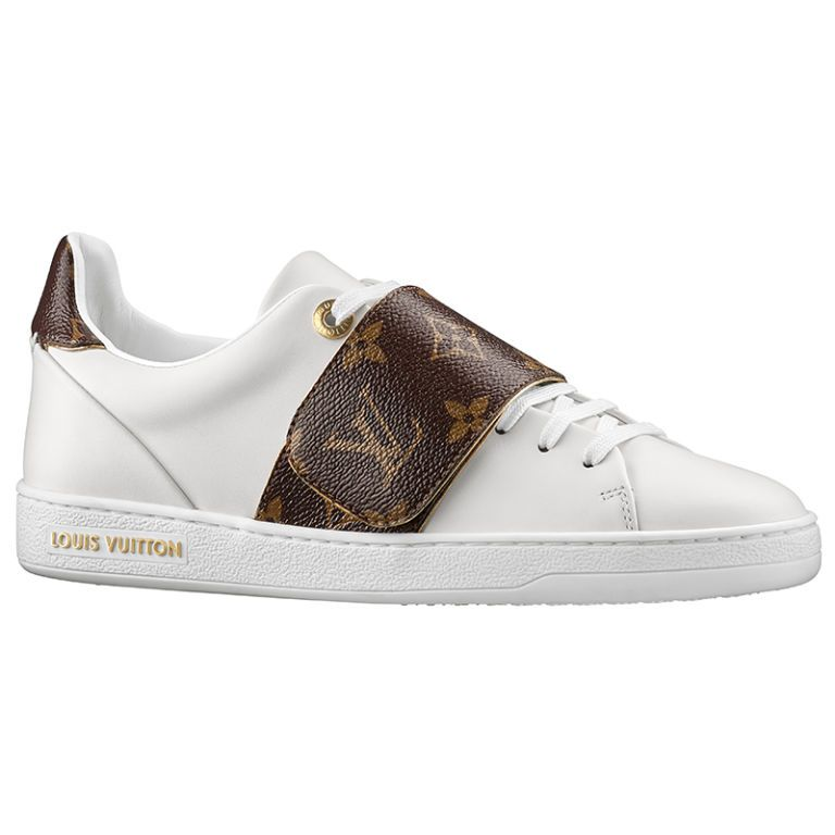 separation shoes 48861 338d2 Luxury Sports Collection Femme Flash PE 2017   Sneaker frontrow en cuir  veau et toile Monogram blanc. - vue de 3 4. Louis Vuitton sneakers,  730,  ...