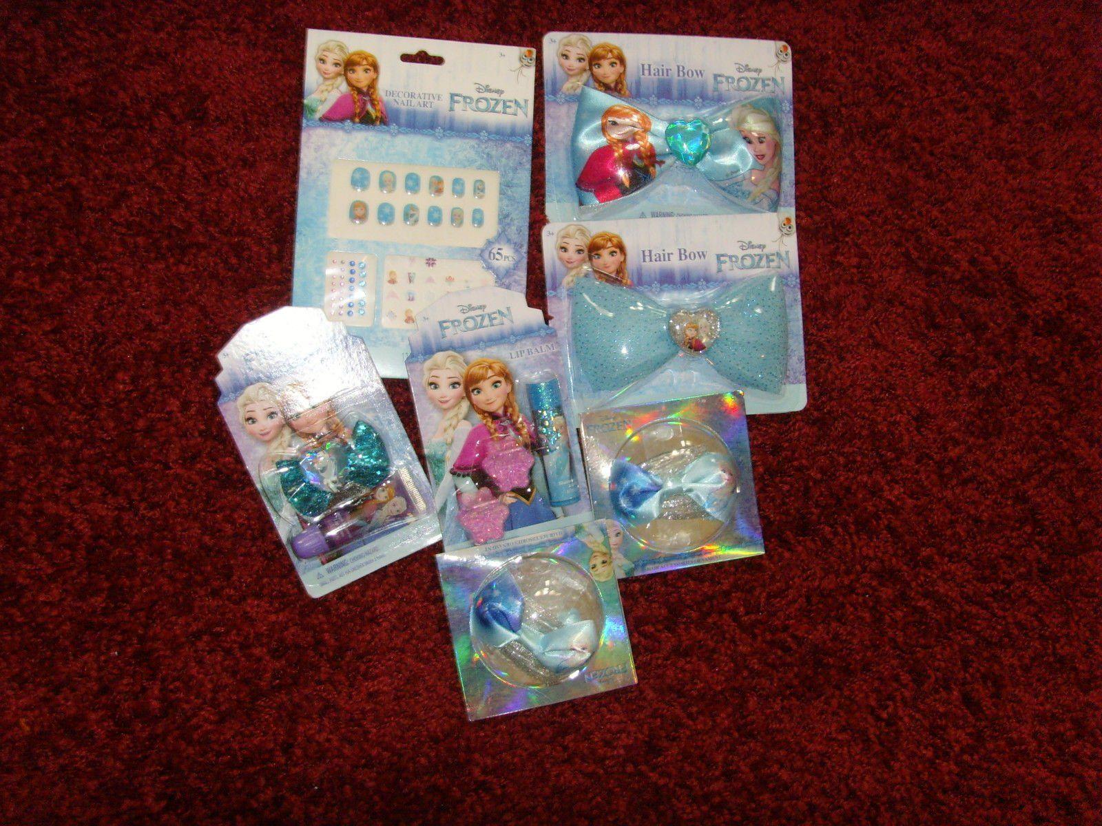 #Trending04 - NEW Beauty Lot Disney Frozen Anna Elsa gift items bows lipbalm gloss clips nails https://t.co/PlewQGMQ5C