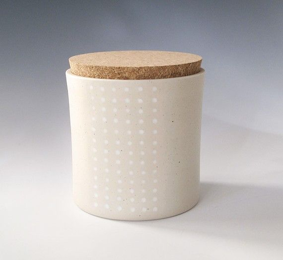dotted cork jar Medium Kitchen and Dining Kitchen