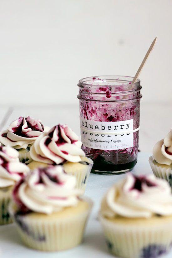 DELICIOUS Blueberry Cupcakes with Honey Buttercream #cupcakerecipes http://thecupcakedailyblog.com/blueberry-cupcakes-with-honey-buttercream/