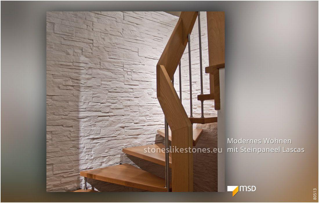 Treppenhaus mit msd steinpaneel lascas von stoneslikestones 80513 msd steinpaneele - Msd wandpaneele ...