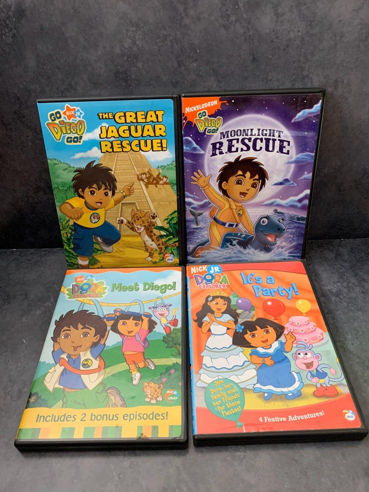 Nick Jr Dora And Diego Dvd Lot Of 4 Dora Explorer Dora And Diego Dora