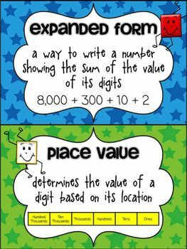 Place Value Anchor Posters Freebie Teaching Math Math