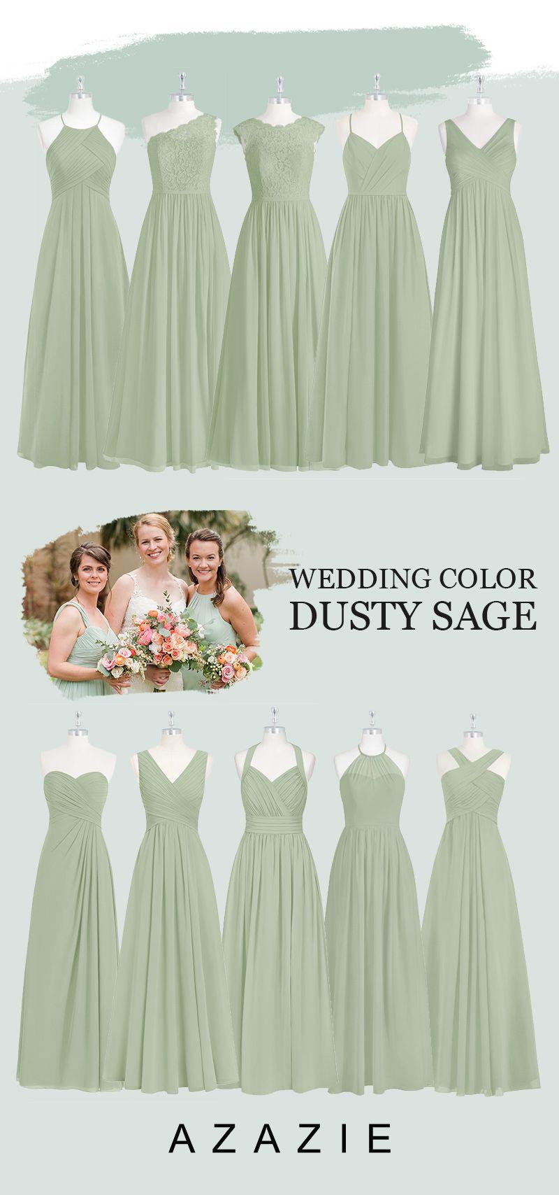 Azazie Elegant Dusty Sage Bridesmaid Dresses In 2020 Bridesmaid Dresses Dusty Sage Sage Bridesmaid Dresses Azazie Bridesmaid Dresses