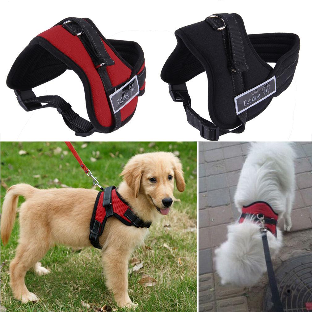7 13 Soft Adjustable Pet Large Dog Walk Out Harness Vest Collar