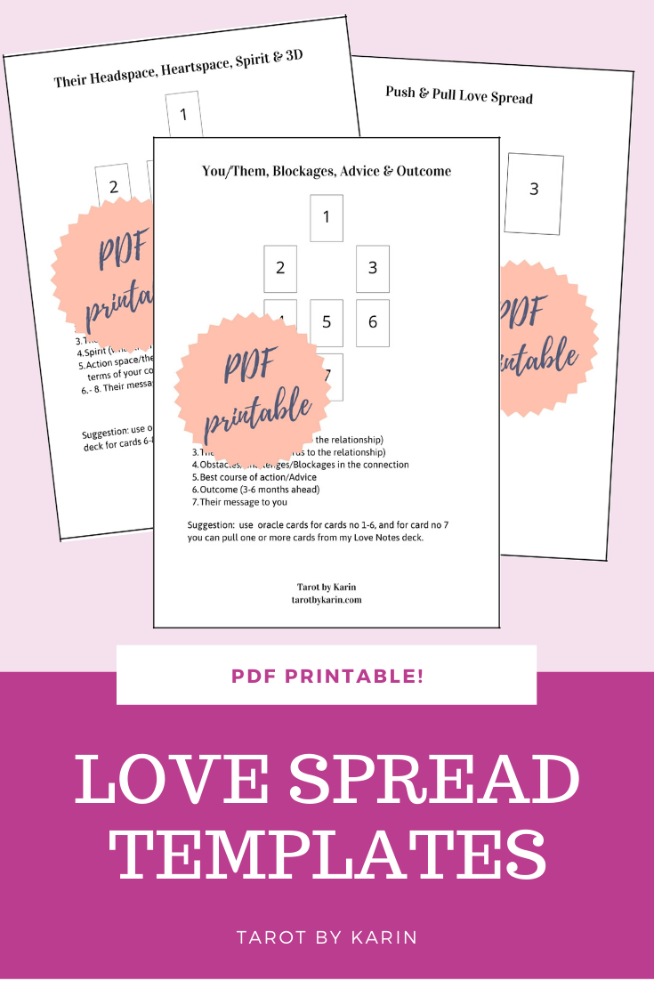 Tarot Reading Spread Guide Book Instant Download Printable Template
