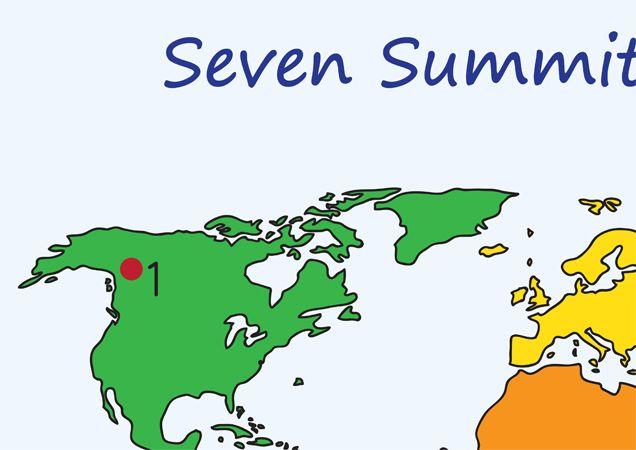 Teachers Pet Displays  7 Summits World Map  Facts  FREE