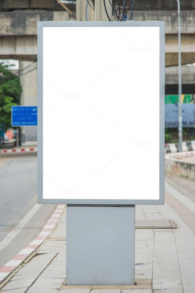 blank billboard on road . Poster Templates. $8.00