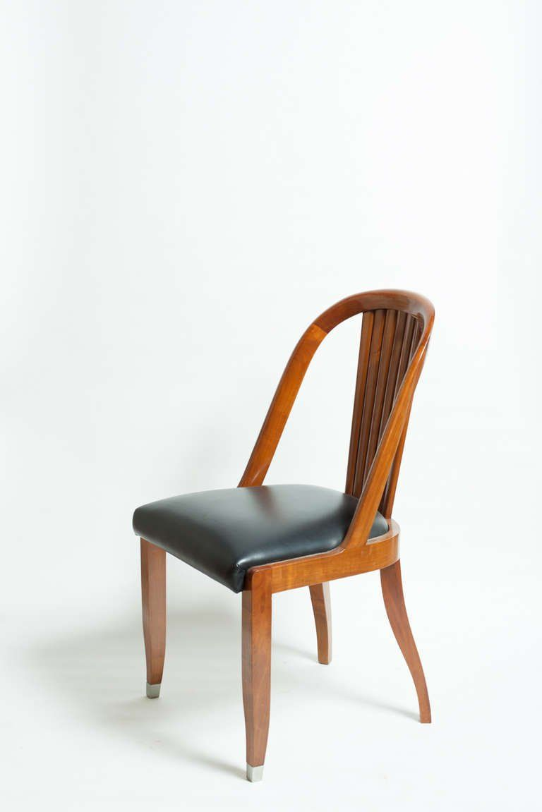 Set Of 10 Art Deco Style Spanish Dining Chairs