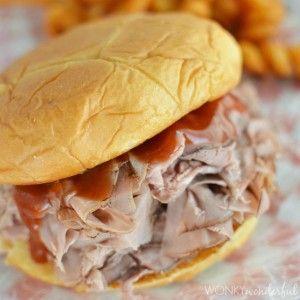 Arby's Sauce Recipe : Roast Beef Sandwich Copycat Recipe : barbecue sauce : bbq : barbeque