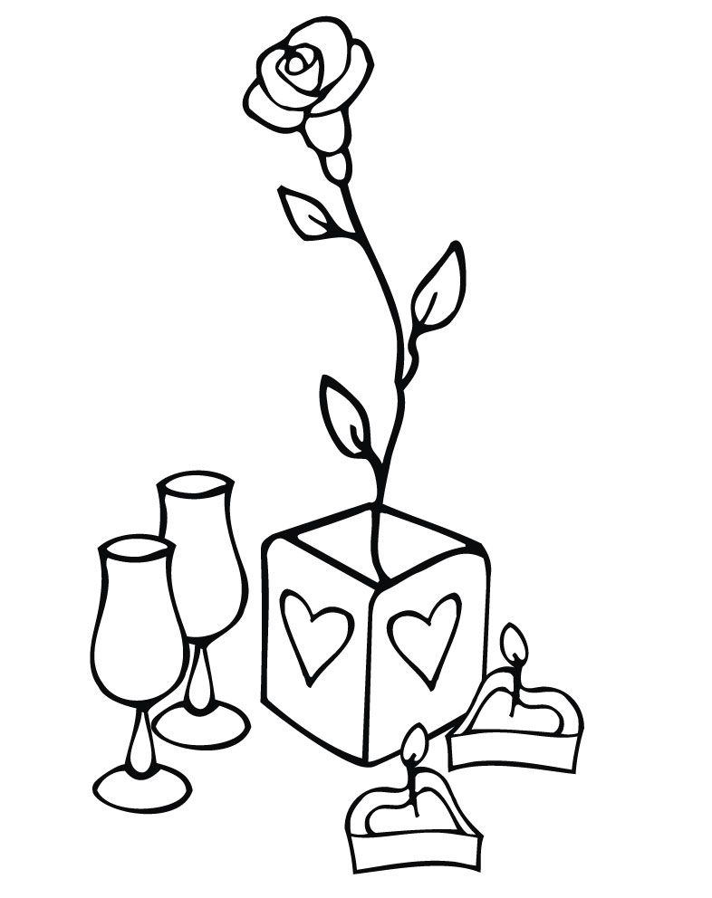 Setting Valentine Coloring Valentines Day Coloring Valentines