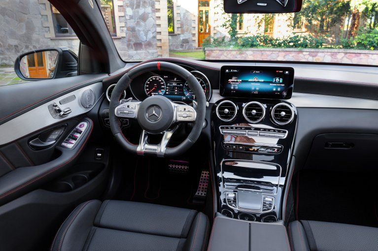 Interior Of The 2019 Mercedes Amg Glc 43 4matic Coupe C 253