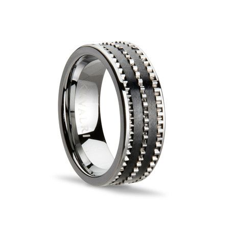 Armour Etched Ring // Black (Size 9)
